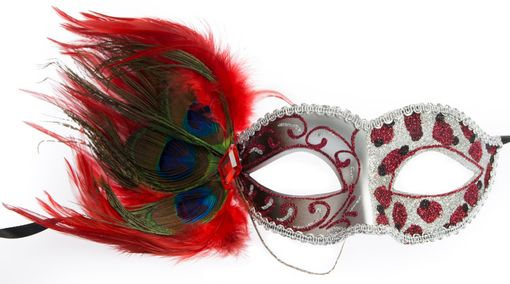 Courtney Feather Eye Mask Red