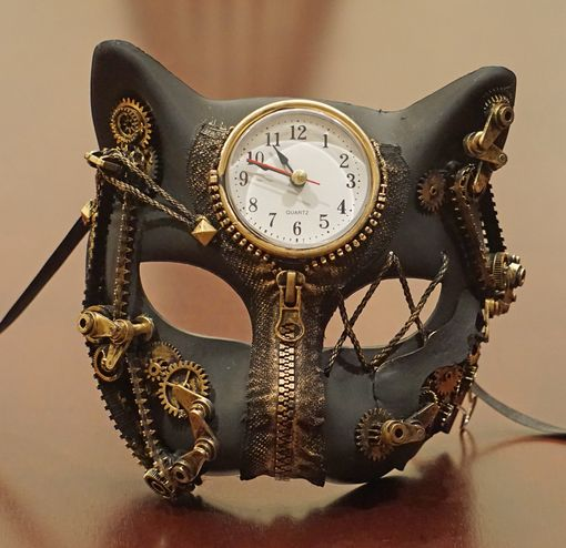Cronos Steampunk Cat Mask