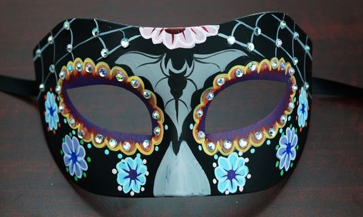 Day Of The Dead Eye Mask Black