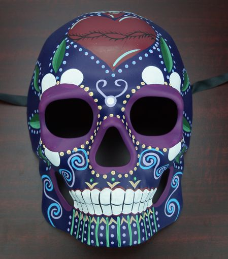 Day Of The Dead Mask Purple