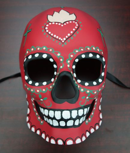 Day Of The Dead Mask Red