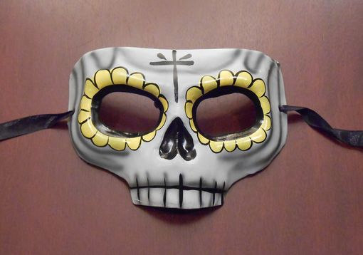 Day of The Dead Mask Yellow