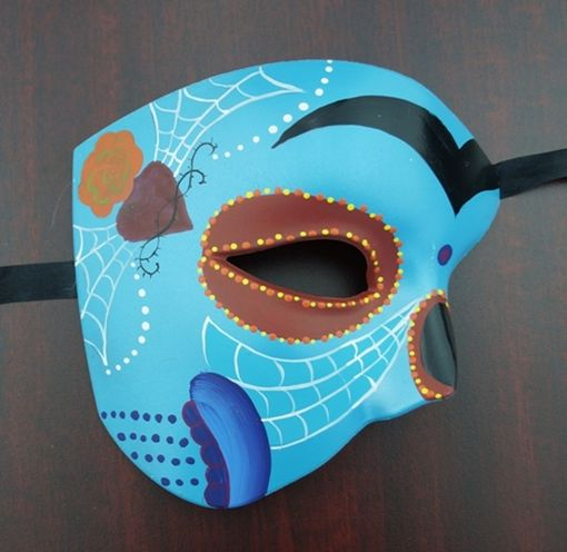 Day Of The Dead Phantom Mask Blue