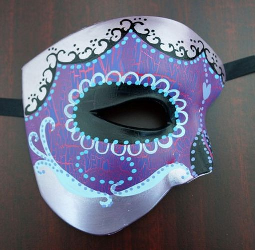 Day Of The Dead Phantom Mask Purple