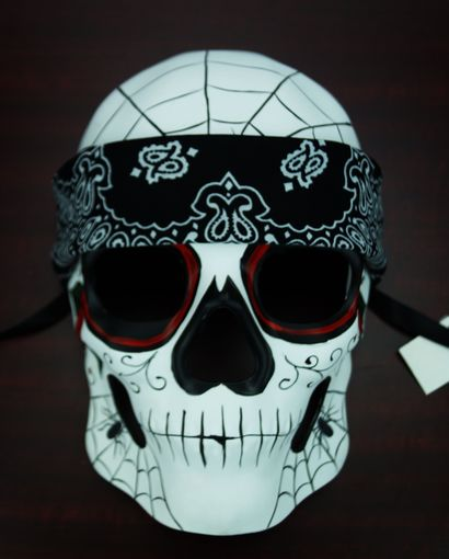 Day Of The Dead Skull Mask Bandana