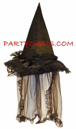 Deluxe Witch Hat with Lace