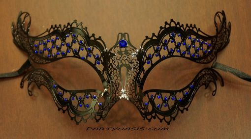 Dione Metal Masquerade Mask Blue