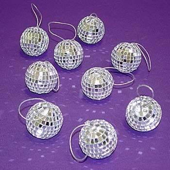 "Disco Mirror Balls 1-5/8""  9 PC Set"