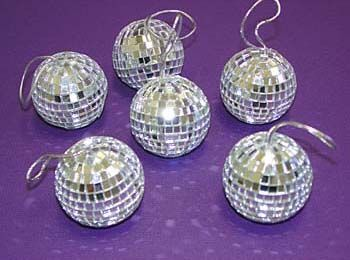 "Disco Mirror Balls 2"" Six Piece Set"