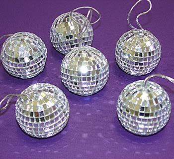 "Disco Mirror Balls 3 1.8"" 6 PC Set"