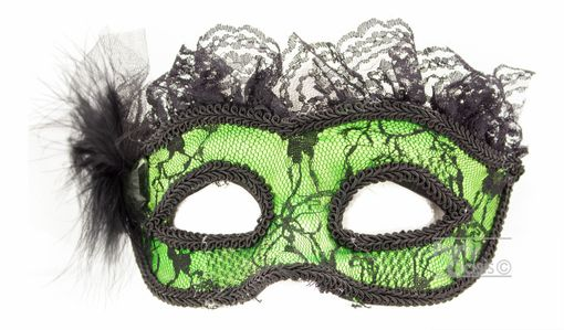 Dominque Lingerie Eye Mask Green