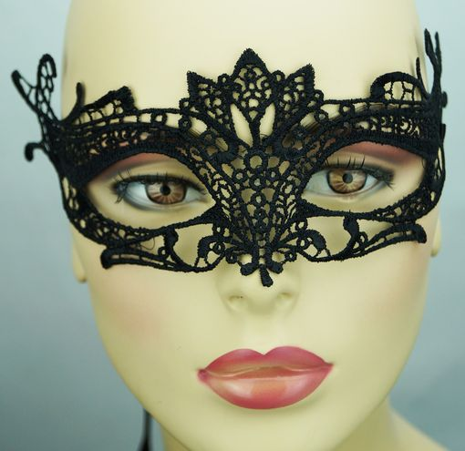 Embroidered Venice Eye Embroidered Masquerade Mask BLack