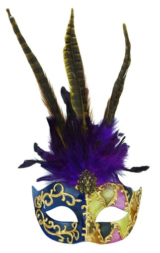 Exotic Venetian Feather Eye Mask Purple