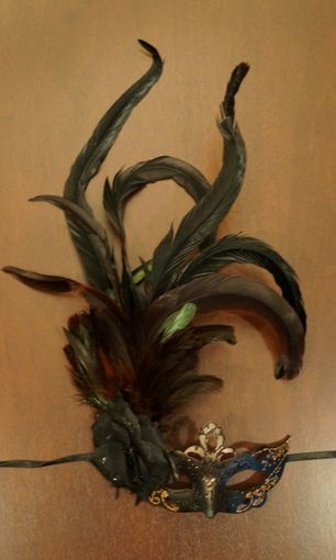 Fancy Masquerade Mask with Feathers