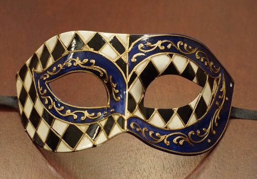 Fav Masquerade Mask Blue