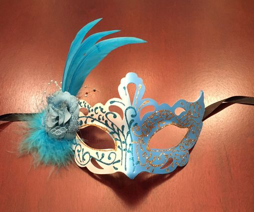 Feather Eye Mask Blue