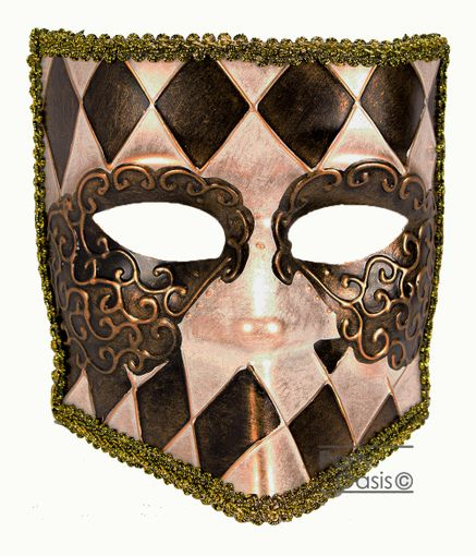 Men's Francesco Masquerade Bauta Mask Black