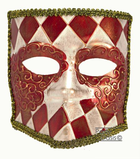 Men's Francesco Bauta Masquerade Mask Red