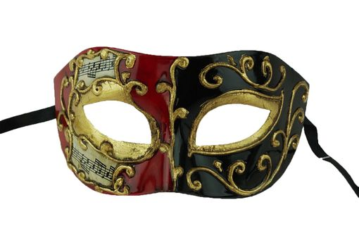 Gionvanni Men's Masquerade Eye Mask Red