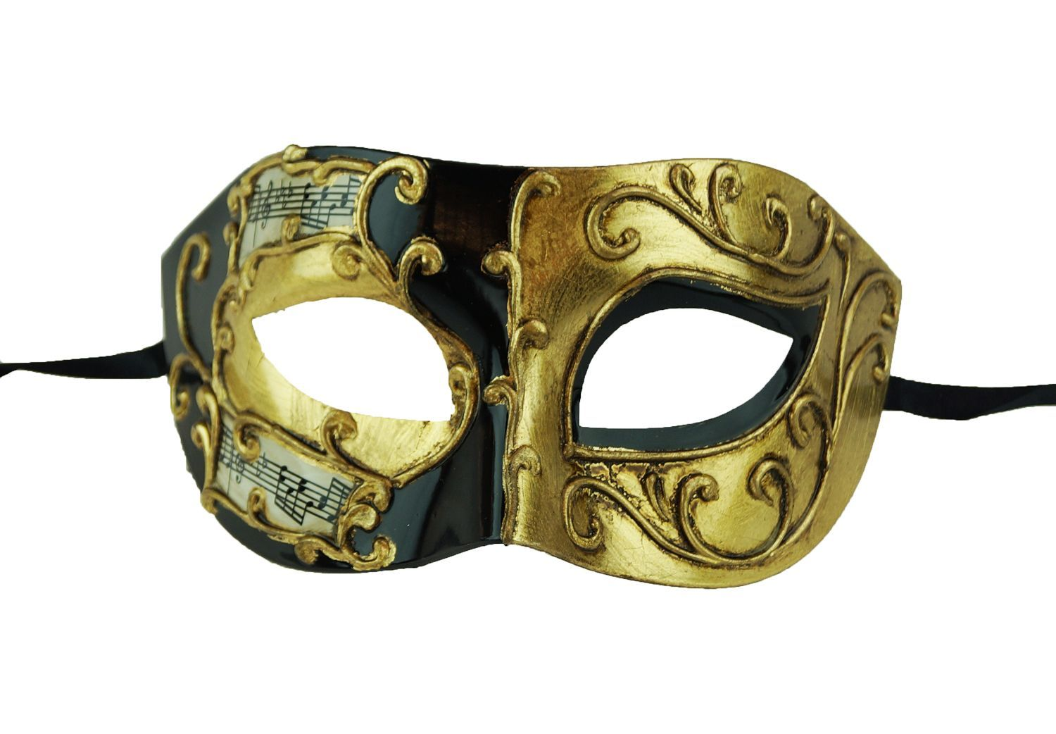 Giovanni Men's Masquerade Mask Gold