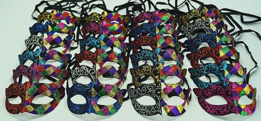 Glittered Masquerade Party Pack