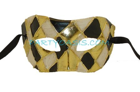 Gold Diamond Masquerade Mask