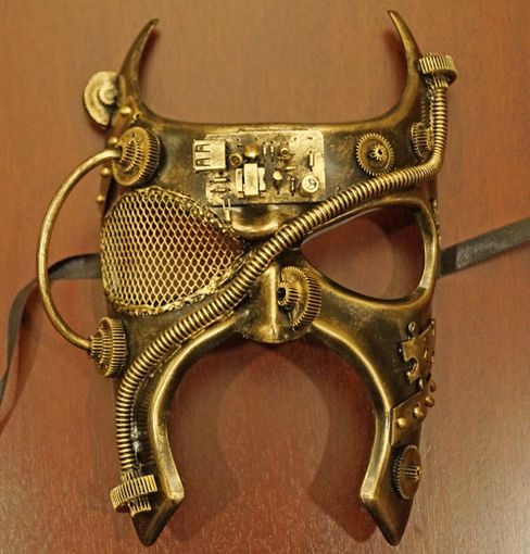 Gold Gladiator Steam Punk Mask