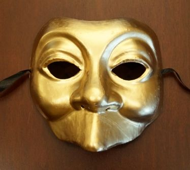 Gold Joker Mask