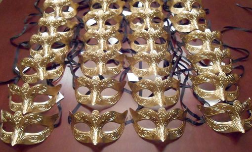 Gold Masquerade Party Pack
