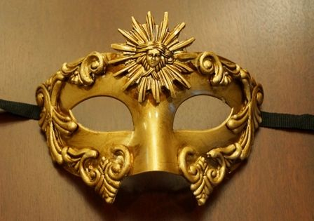 Gold Roman Warrior Mask