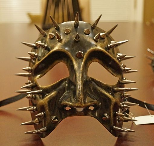 Gold Spiked Tragedy Mask