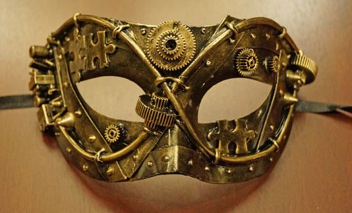 Gold Steam Punk Mask