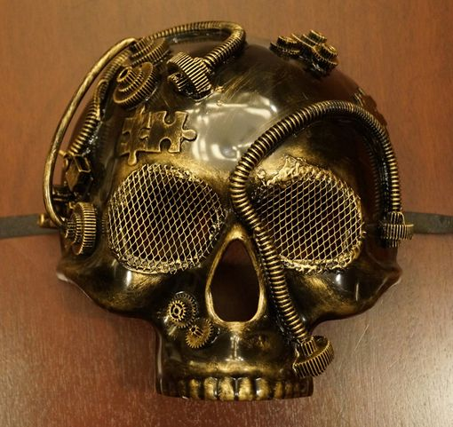 Gold Steam Punk Skull Mask