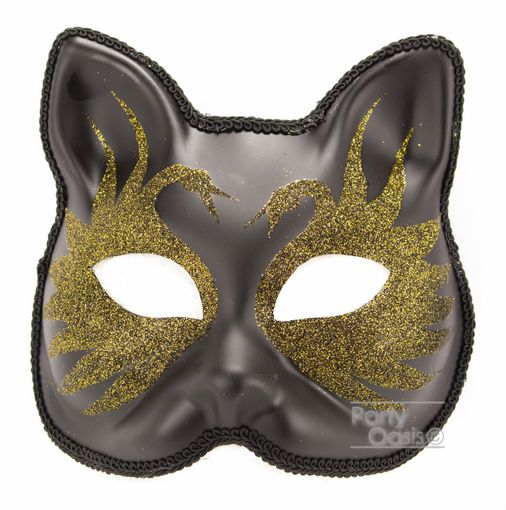 Gold Swan Cat Mask