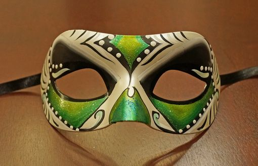 Green Abstract Masquerade Mask