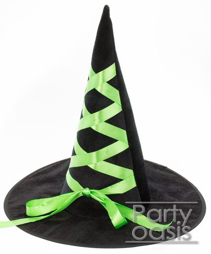 Green Lace Witch Hat