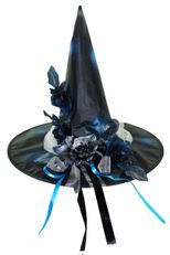 Hallo Eve Witch Hat Black Aqua