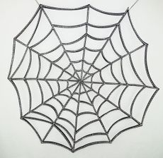 Halloween Jeweled Spider Web 36""