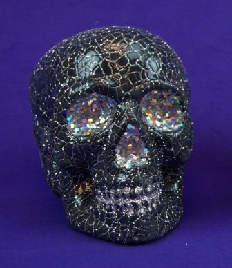 Halloween Skull Decoration Black