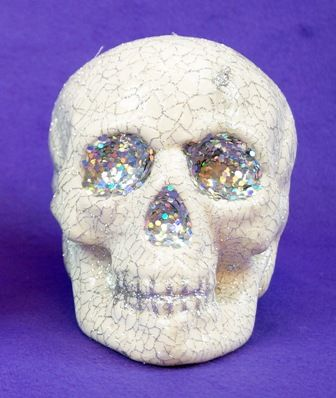 Halloween Skull Decoration white