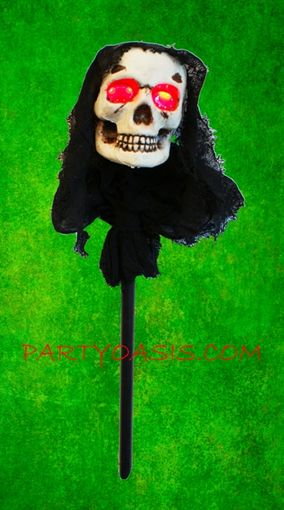 Halloween Skull Lawn Stake With L.E.D Lite Up Eyes