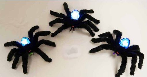 Flashing Halloween Spider Decoration Set