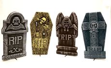 Halloween Tombstone Decoration Set 16""