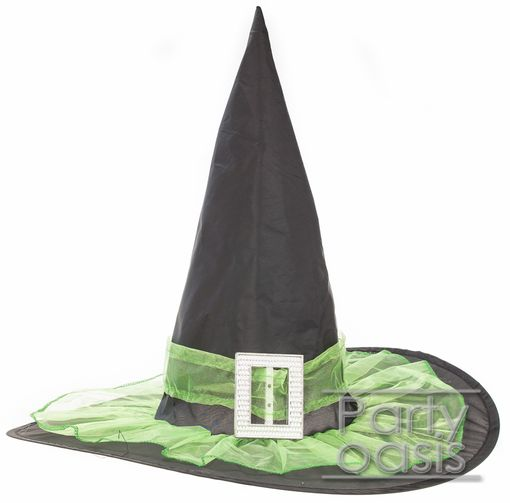 Halloween Witch Hat Green