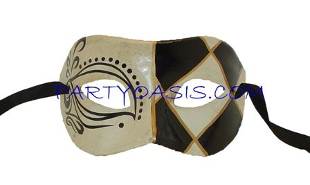 Masquerade Harlequin Eye Mask