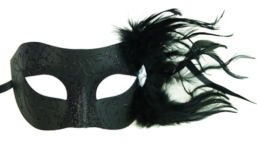 Helena Black Feather Masquerade Eye Mask