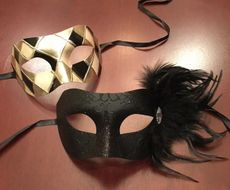 Helena Masquerade Couples Mask Set Silver