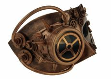 Bronze Steampunk Mask With Goggle Men's Mask
