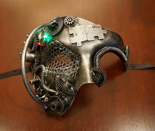 Industrial Phantom Mask With Flashing Lights