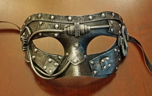 Industrial Steam Punk Eye Mask Silver